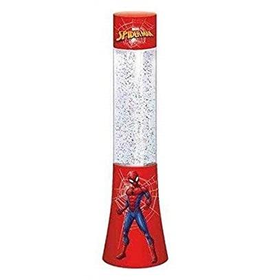 Veioza lampa Spiderman glitter rosu 33.3 cm [0]