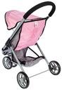 Carucior pentru papusi Little Princess Pink Grey [3]