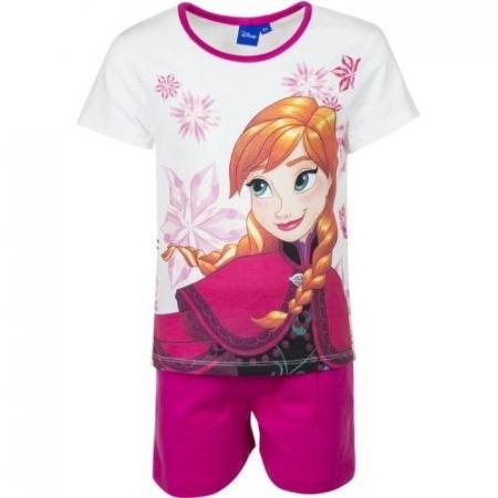 Pijama Frozen Ana Elsa maneca scurta1