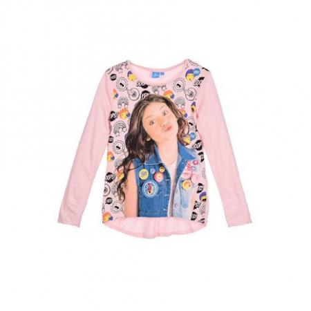 Bluza maneca lunga Soy luna, roz, 116 cm0