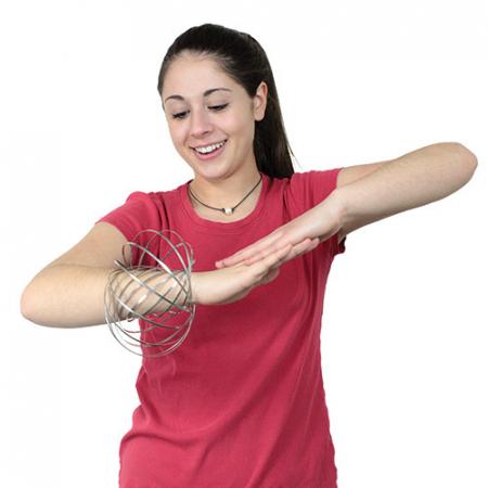 Bratara magica 3D Flow Ring, metalica, 14 cm1