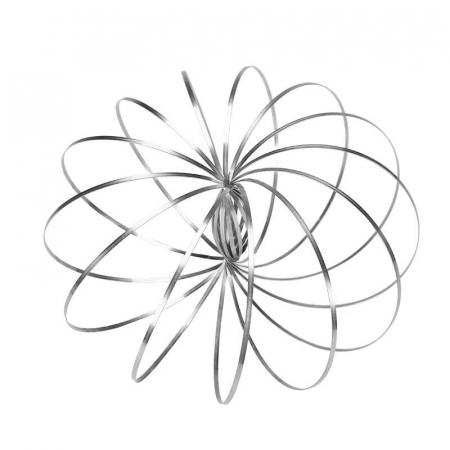 Bratara magica 3D Flow Ring, metalica, 14 cm0