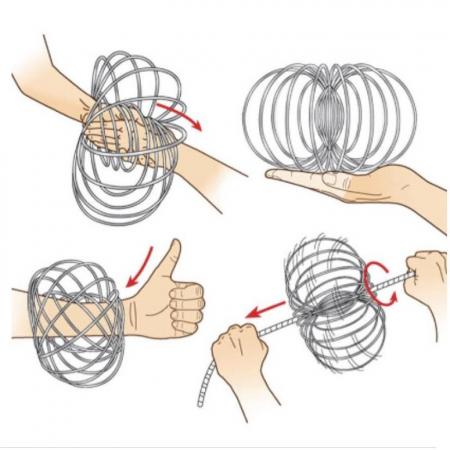Bratara magica 3D Flow Ring, metalica, 14 cm2