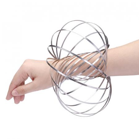 Bratara magica 3D Flow Ring, metalica, 14 cm5