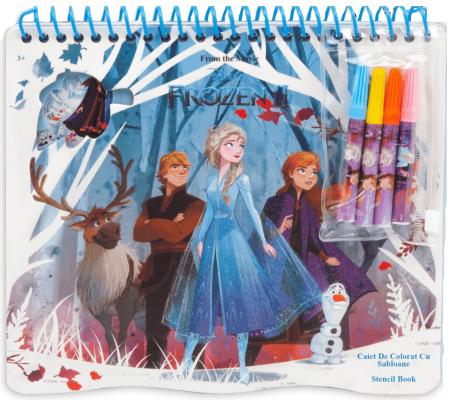 Caiet de colorat cu sabloane, Frozen1