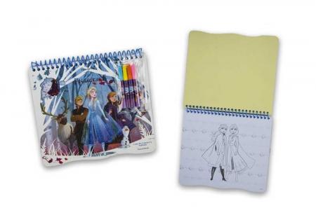 Caiet de colorat cu sabloane, Frozen3