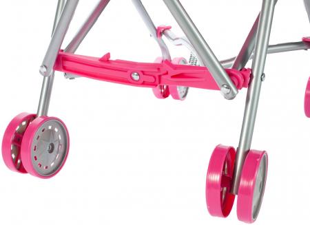 Carucior pentru papusi cu cadru metalic pliabil cu unicorn [7]