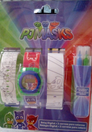 Ceas PJ Masks digital cu bratara de colorat [1]