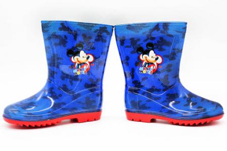 Cizme cauciuc PVC Mickey Mouse talpa rosie [0]