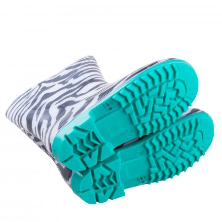 Cizme cauciuc Zebra,bleu [4]
