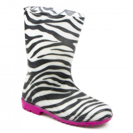 Cizme cauciuc Zebra,roz [0]