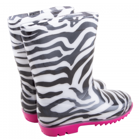 Cizme cauciuc Zebra,roz [2]