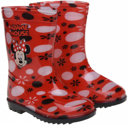 Cizme de ploaie Minnie rosii 25-260