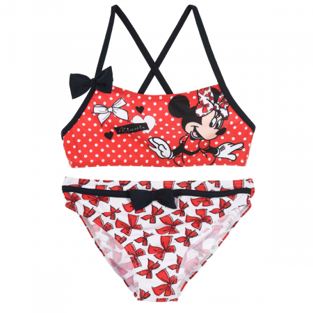 Costum baie 2 piese Minnie Mouse0