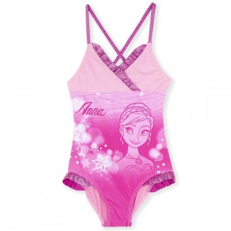 Costum baie intreg Frozen roz, 5 ani, 110 cm0