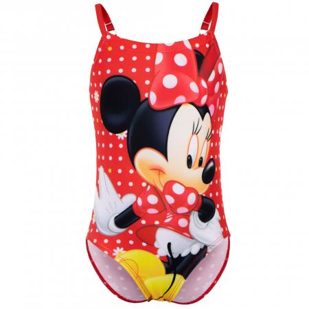 Costum de baie intreg Minnie Mouse, rosu0