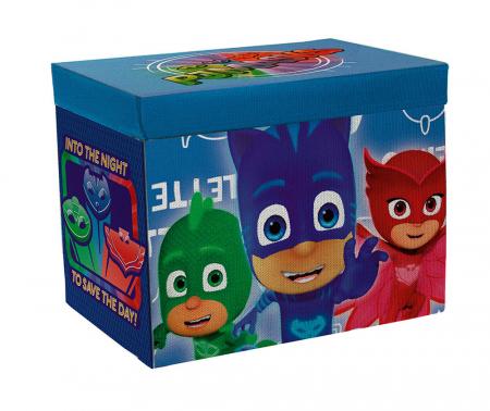 Cutie cu capac tabla de joc , depozitare jucarii PJ Masks 41x31x28 cm0