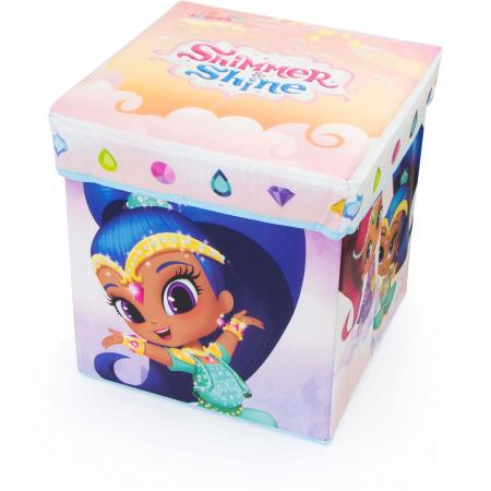 Cutie depozitare taburet Shimmer and Shine, 30x30x30 cm0