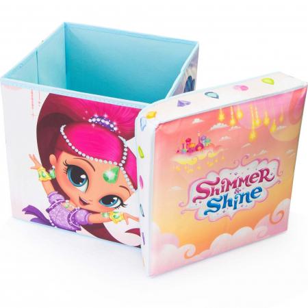 Cutie depozitare taburet Shimmer and Shine, 30x30x30 cm1