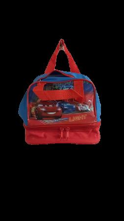Geanta de pranz cu manere Cars, rosu, 20x18.5x14.5 cm0