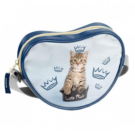 Geanta umar inimioara bleu Cats Rules Paso 17x15x5 cm [0]