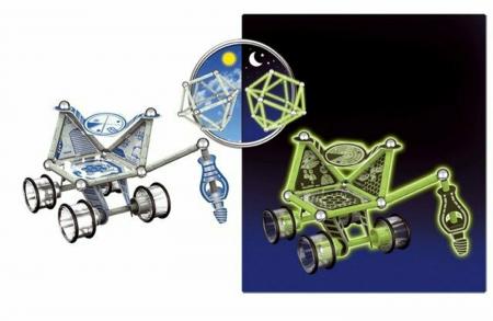 Geomag Glow, vehicul lunar, 60 piese2