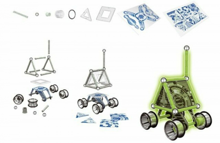 Geomag Glow, vehicul lunar, 60 piese1