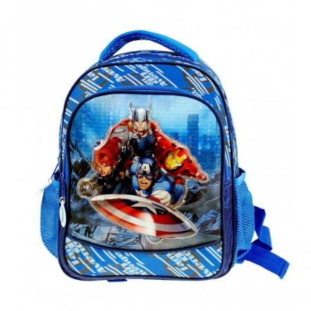 Ghiozdan Avengers albastru 2 compartimente 29 cm [0]