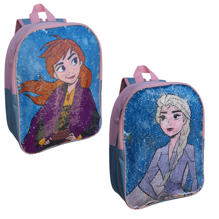 Ghiozdan Frozen Anna si Elsa paiete reversibile [4]