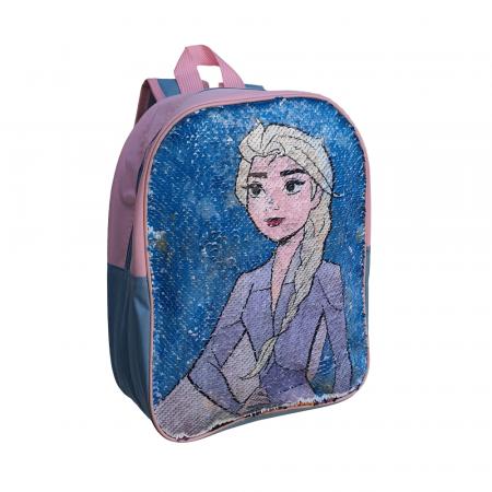 Ghiozdan Frozen Anna si Elsa paiete reversibile [0]