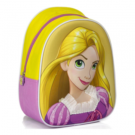 Ghiozdan gradinita 3D Rapunzel 27x23x10 cm0