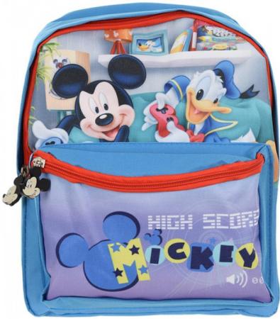 Ghiozdan gradinita Mickey Mouse bleu 29x24x10 cm2