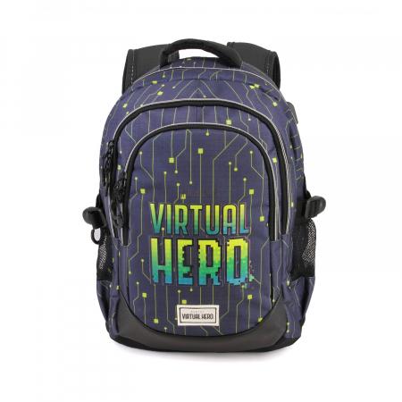 Ghiozdan scoala Virtual Hero 44 cm0