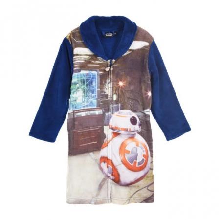 Halat Baie Star Wars cu fermoar, albastru, 4 ani, 104 cm0