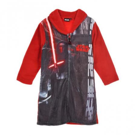 Halat Baie Star Wars cu fermoar, rosu, 4 ani, 104 cm0