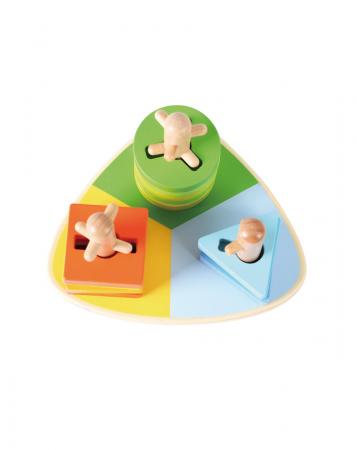 Joc de de stivuire Triunghi, forme geometrice, lemn [4]