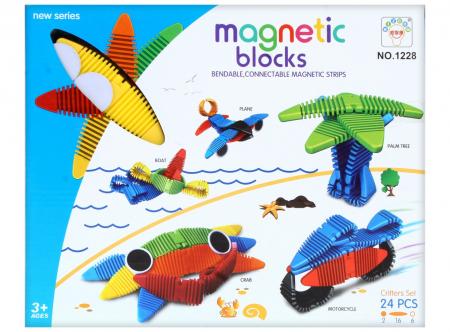 Joc de construit Magnetic Word 24 piese1