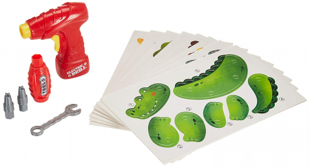 Jucarie educativa puzzle creativ Animale DYI cu valiza si surubelnita 120 piese [2]