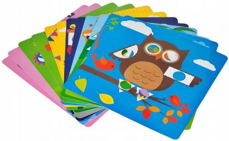 Jucarie educativa puzzle creativ forme geometrice [3]
