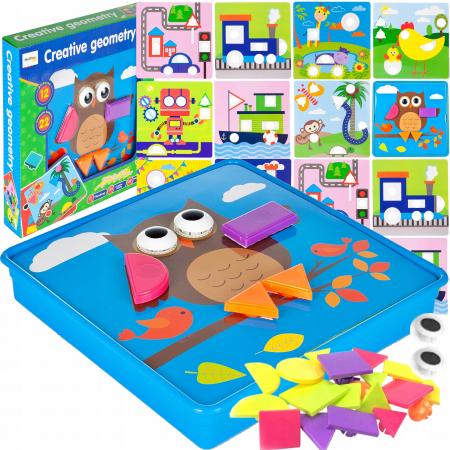 Jucarie educativa puzzle creativ forme geometrice [0]
