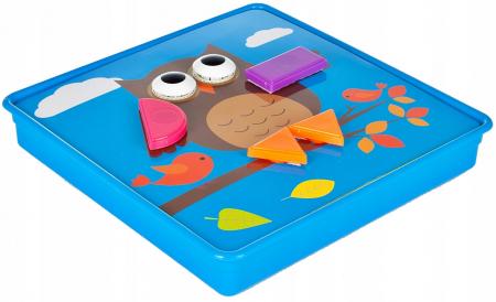 Jucarie educativa puzzle creativ forme geometrice [6]