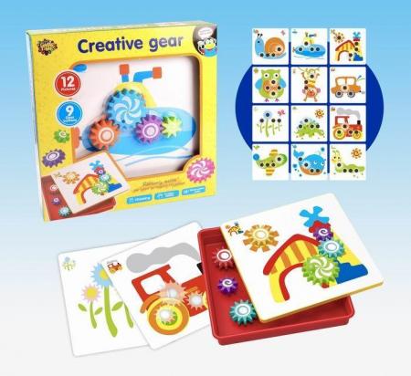 Jucarie educativa puzzle creativ Gear [8]