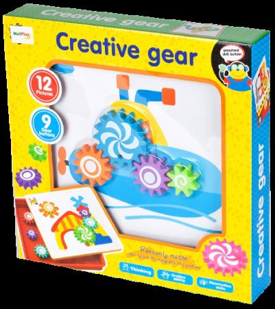 Jucarie educativa puzzle creativ Gear [7]