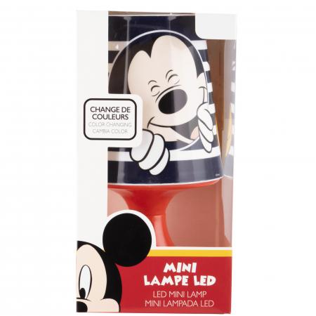 Lampa de veghe mini LED Mickey Mouse, 3 baterii AA, 18.5 cm, Multicolor [1]
