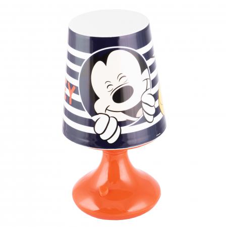 Lampa de veghe mini LED Mickey Mouse, 3 baterii AA, 18.5 cm, Multicolor [0]