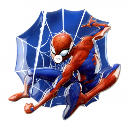 Sticker LED perete Spiderman 20x20 cm [0]