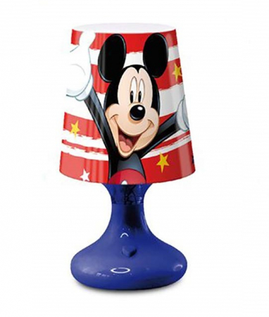 Lampa veghe mini led Mickey Mouse albastru 18.5 cm1