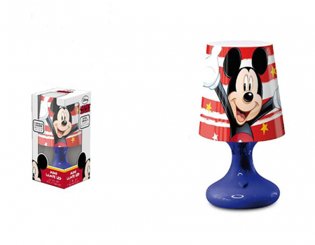 Lampa veghe mini led Mickey Mouse albastru 18.5 cm [0]