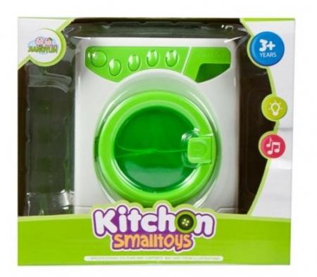 Masina de spalat de jucarie cu lumini si sunete verde3