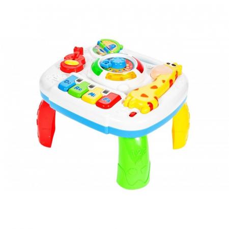 Jucarie interactiva Girafa Masuta cu activitati pentru bebelusi cu sunete si lumini [0]